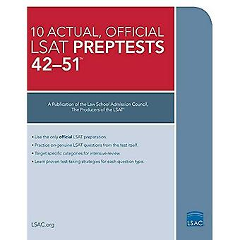 The 10 Actual, Official LSAT Preptests 42-51