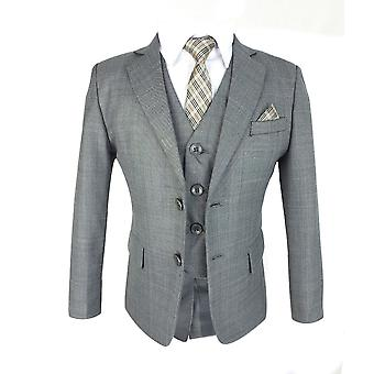 Boys All in One Formal Grey Suit