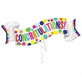 Anagram Congratulations Banner Supershape Foil Balloon