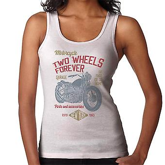 Two Wheels Forever Motorcycle Garage Women's Vest