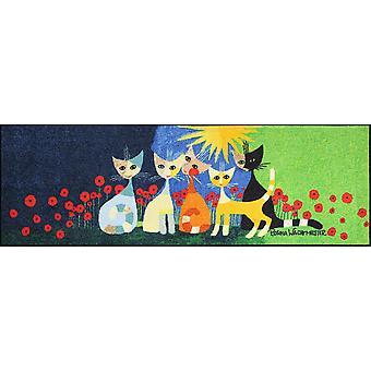 Rosina Wachtmeister dörrmatta una bella compagnia 60 x 180 cm tvättbar smuts matta salong lejon