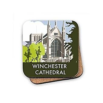 Winchester Cathedral cork backed drinks coaster  (se)