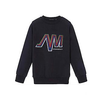 Antony Morato Junior Navy Printed Logo Sweatshirt