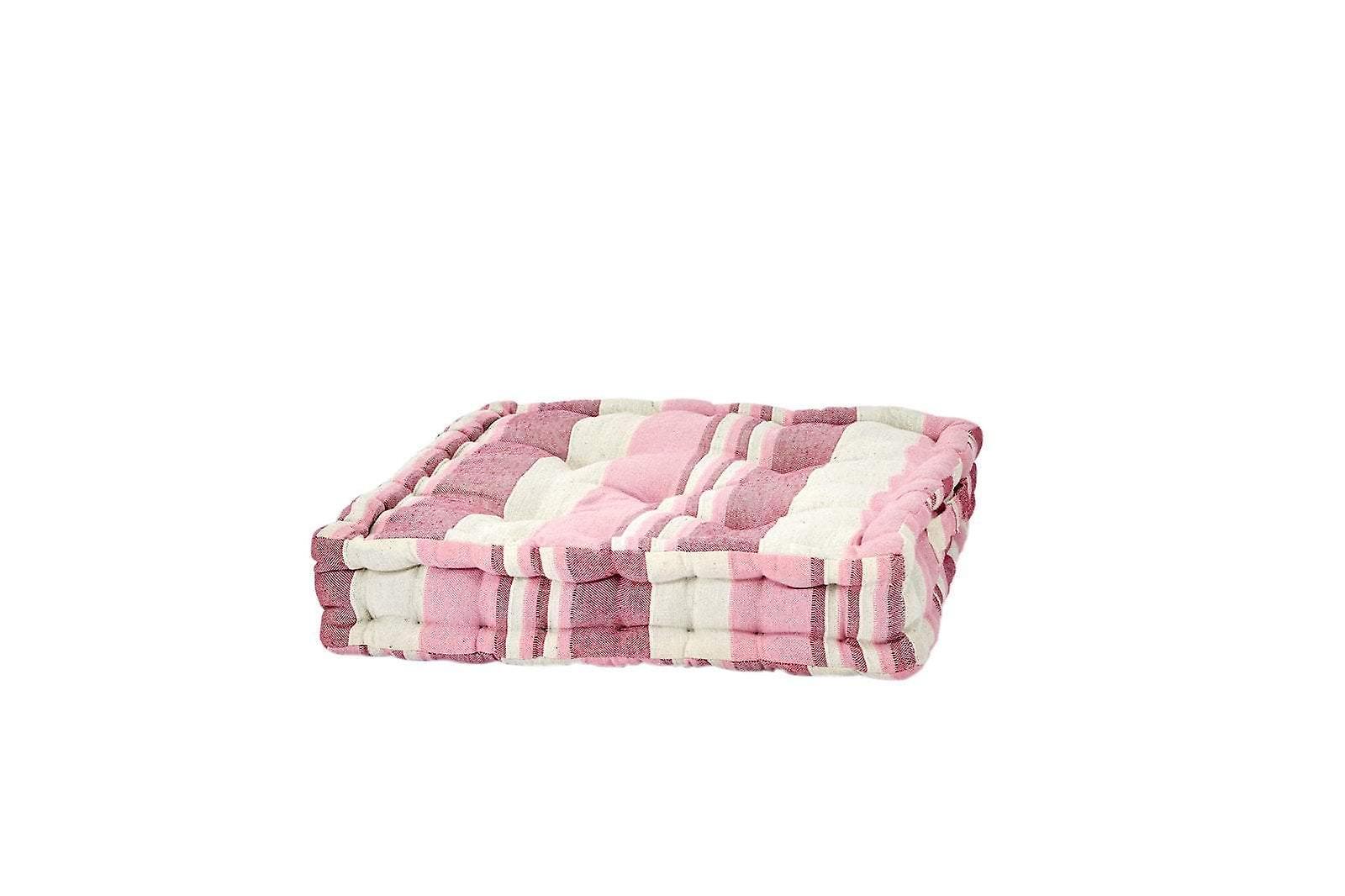 Pink Striped Floor Cushion
