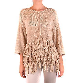 Fabiana Filippi Ezbc055034 Women's Bege Cotton Sweater