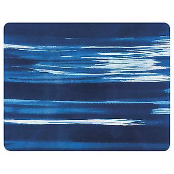 Ladelle Wade blå 33 cm x 25,5 cm dækkeservietter, sæt af 4