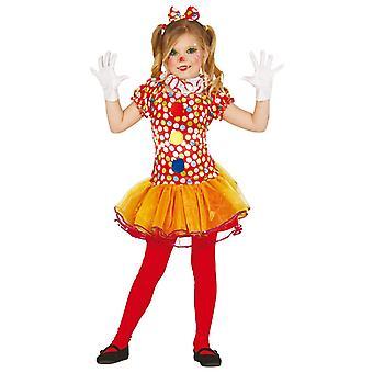 Meisjes Circus Clown Fancy Dress kostuum