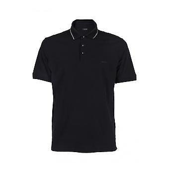Z Zegna Vs328zz720k09 Men's Black Cotton Polo Shirt