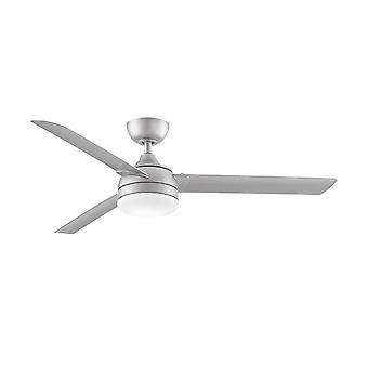 """Outdoor Ceiling Fan XENO WET 142cm / 56"""" Nickel with LED"""