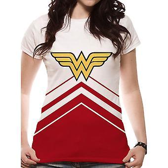 Women's Wonder Woman Logo Cheerleader Fitted T-Shirt