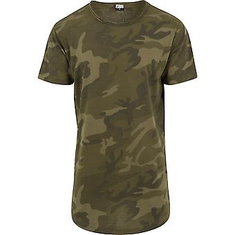 Urban Classics Men's T-Shirt Camo Shaped Long