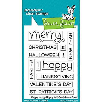 Lawn Fawn Happy Happy Happy Add-On Clear Stamps (LF1478)
