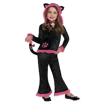 Filles Kuddly Kitty Fancy Dress Costume