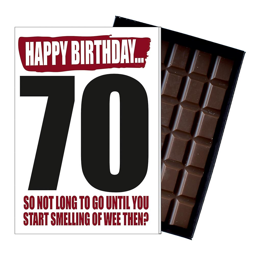 Funny 70th Birthday Gift For Men Women Rude Boxed Chocolate Greetings Card Present IYF165