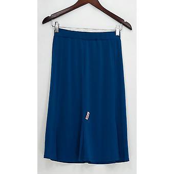 Susan Graver Spódnica Codziennie Płyn Knit Fit & Flare Niebieski A293643