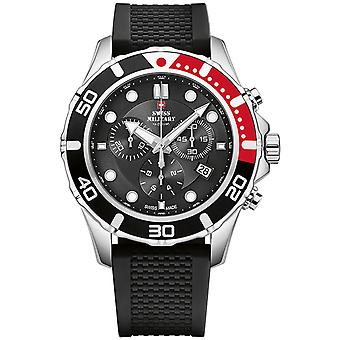 Swiss Military Swiss Quartz Analog Man Watch with SM34044.04 Rubber Bracelet