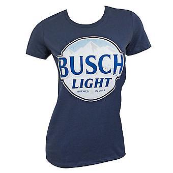 Busch Light Logo Women's Navy Blue T-Shirt