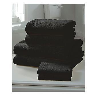 Chatsworth 4 kpl pyyhe paali musta-2 käsi pyyhkeitä, 2 kylpy pyyhkeitä
