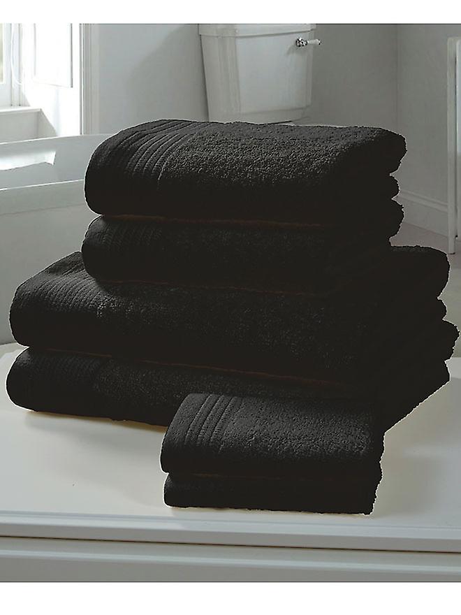 Chatsworth 4 Piece Towel Bale Black- 2 Hand Towels, 2 Bath Towels