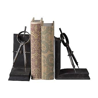 Compass bookends- set of 2