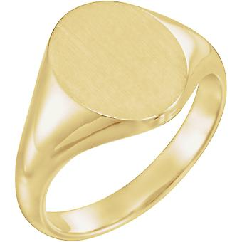10k Yellow Gold Signet Ring 10x8mm Size 6 Jewelry Gifts for Women - 3.9 Grams