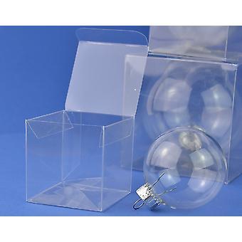 10 acetat kub Box presentation lådor för gåvor eller grannlåt 7cm