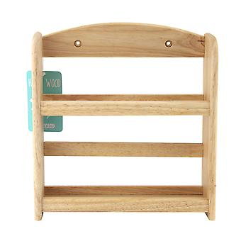 Apollo 2 Tier Natural Wooden Spice Rack