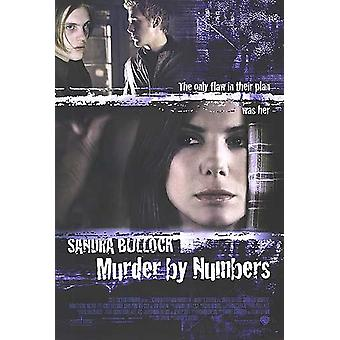 القتل بالأرقام (العادية) (مزدوجة الجانب) ملصق السينما الأصلي