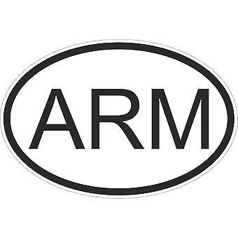 Autocollant Sticker Drapeau Oval Code Pays Voiture Moto Armenie Armenien Arm
