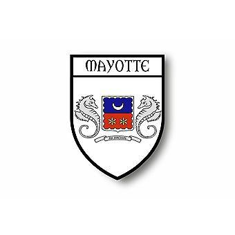 Autocollant Sticker Voiture Moto Blason Ville Drapeau Mayotte