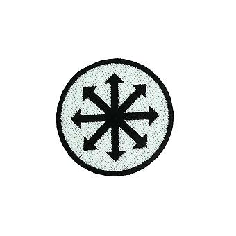 Patch Ecusson Brode Applique Thermocollant Chaos Symbol Star Chaosphere