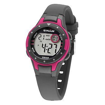 SINAR Youth Watch Kids Wristwatch Digital Quartz Silicone XE-52-8 gris rose