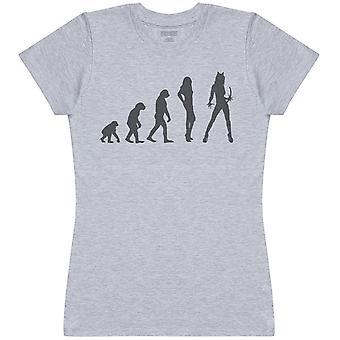 Evolution To A Cat Woman - Womens T-Shirt