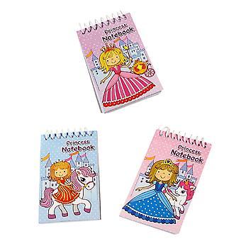 Single Mini Spiral Bound Princess Notebook Party Bag Favour Filler
