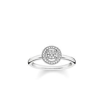 Thomas Sabo Sterling Silver Thomas Sabo Luce di Luna Anello Con Diamante D_TR0008-725-14