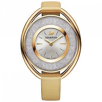 Swarovski Crystalline Oval Watch, Fabric Strap, Gold Tone 5158972