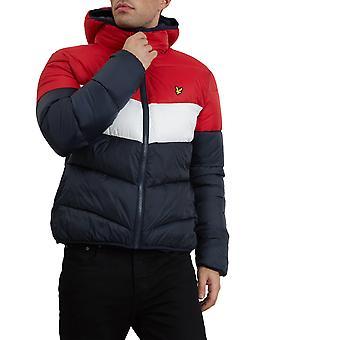 Lyle & Scott men's winter jacket colour block Puffa