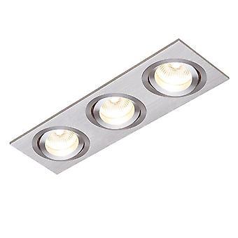 Saxby belysning Tetra 3 Light infälld downlight borstad silveranodiserad 52405