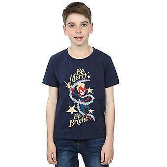 Marvel Boys Be Merry Be Bright T-Shirt