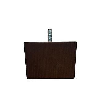 Neliöt tummanruskea puinen huone kalut jalka 6 cm (M8)