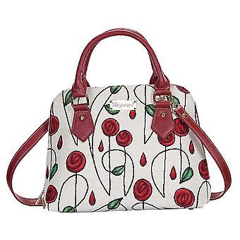Mackintosh-bolso de hombro con mango superior de rosa simple de signare Tapestry/CONV-RMSP
