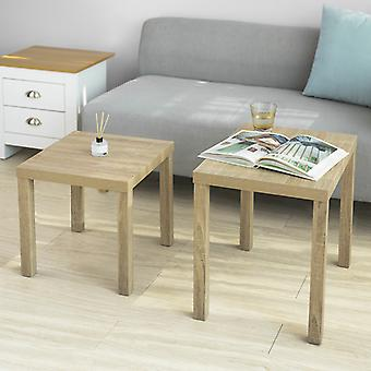 SoBuy Set of 2 Coffee Table Side Table End Table Living Room Table Nesting Tables,FBT83-N