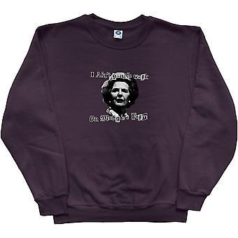 I Ain't going to Work on Maggie's Farm Black Sweatshirt