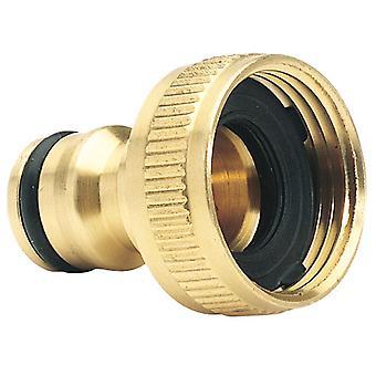 Brass Garden Hose Tap Connector (3/4in) - GWB1A/H
