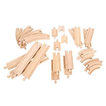 Bigjigs Wooden Railway Straights & Curves Expansion Pack