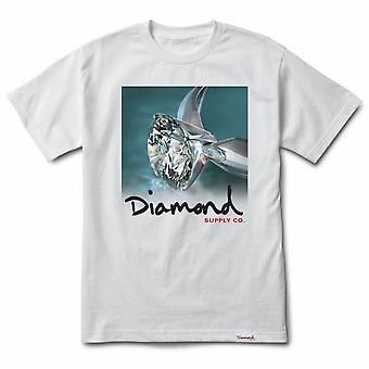 Diamond Supply Co Shimmer Tee Blanc