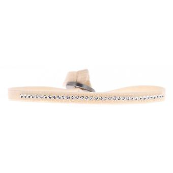 Bracciale intercambiabile A36246 - cristalli di tessuto Beige donna Swarovski bracciale