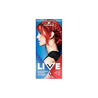 Schwarzkopf 3 X Schwarzkopf Live Ultra Brights Or Pastel - Pillar Box Red 92