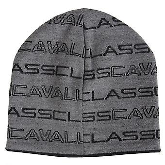 Cavalli Class Cotton Grey/black Reversible Beanie