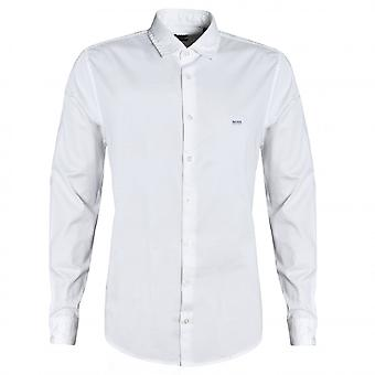 Hugo Boss Casual Hugo Boss Homme-apos;s Slim Fit Chemise Blanche Mypop